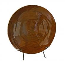 Howard Elliott 26030 - Mocha Brown Lacquer Bamboo Charger w/ Stand