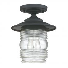Capital 9677BK - 1 Light Outdoor Ceiling