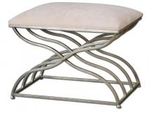 Uttermost 23091 - Uttermost Shea Satin Nickel Small Bench