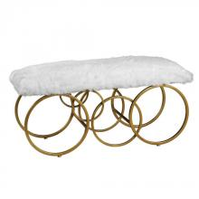 Uttermost 23323 - Uttermost Blaine Plush White Fur Bench