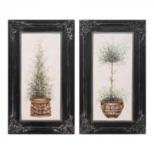 Uttermost 31404 - Uttermost Topiaries Hand Painted Art, S/2