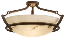 Minka-Lavery 1687-14 - 3 Light Semi Flush Mount
