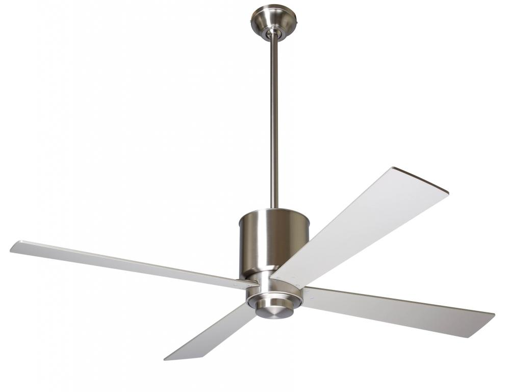 "Lapa Fan; Bright Nickel Finish; 50"" White Blades; No Light; Fan Speed Control"