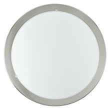 Eglo US 82942A - 1x100W Ceiling Light w/ Matte Nickel Finish & Satin Glass