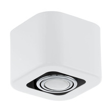 Eglo US 93011A - 1x35W Ceiling Light w/ Glossy White & Chrome Finish