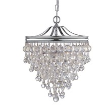 Crystorama 130-VZ - Crystorama Calypso 3 Light Crystal Teardrop Bronze Mini Chandelier