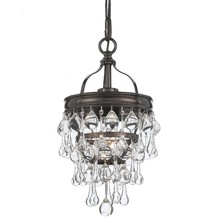 Crystorama 131-VZ - Crystorama Calypso 1 Light Bronze Mini Chandelier