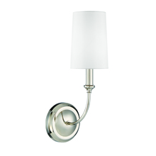 Crystorama 2241-PN - Libby Langdon for Crystorama Sylvan 1 Light Polished Nickel Sconce
