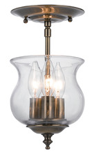 Crystorama 5715-AB - Crystorama Ascott 3 Light Brass Semi-Flush
