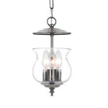 Crystorama 5717-PW - Crystorama Ascott 3 Light Pewter Lanterns