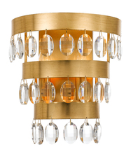 Crystorama 6102-GA - Crystorama Perla 2 Light Antique Gold Sconce