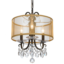 Crystorama 6623-EB-CL-MWP - Crystorama Othello 3 Light Clear Crystal English Bronze Mini Chandelier