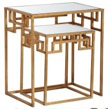 Mariana 151013 - Hide and Greek Nesting Tables - Gold
