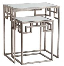 Mariana 151015 - Hide and Greek Nesting Tables - Silver