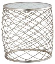 Mariana 152002 - Criss Cross Side Table - Silver Leaf