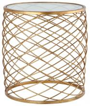 Mariana 152003 - Criss Cross Side Table - Gold Leaf