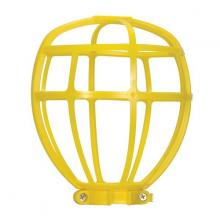 Satco Products Inc. 90/2612 - Yellow Trouble Light Plastic Cage Suitable for Outdoor Locations Height: 6-1/2""