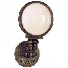 Visual Comfort SL 2935BZ-WG - Boston Head Light Sconce in Bronze with White Gl