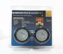 American Lighting ALPX40BK - Two 12 Volt, 20 Watt Xenon Puck Light Kit, Black, Includes plug-in 60 Watt transformer