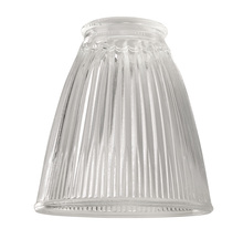"Ellington Fan 757C - 2 1/4"" Fan Glass, Cone Shaped in Clear Ribbed"