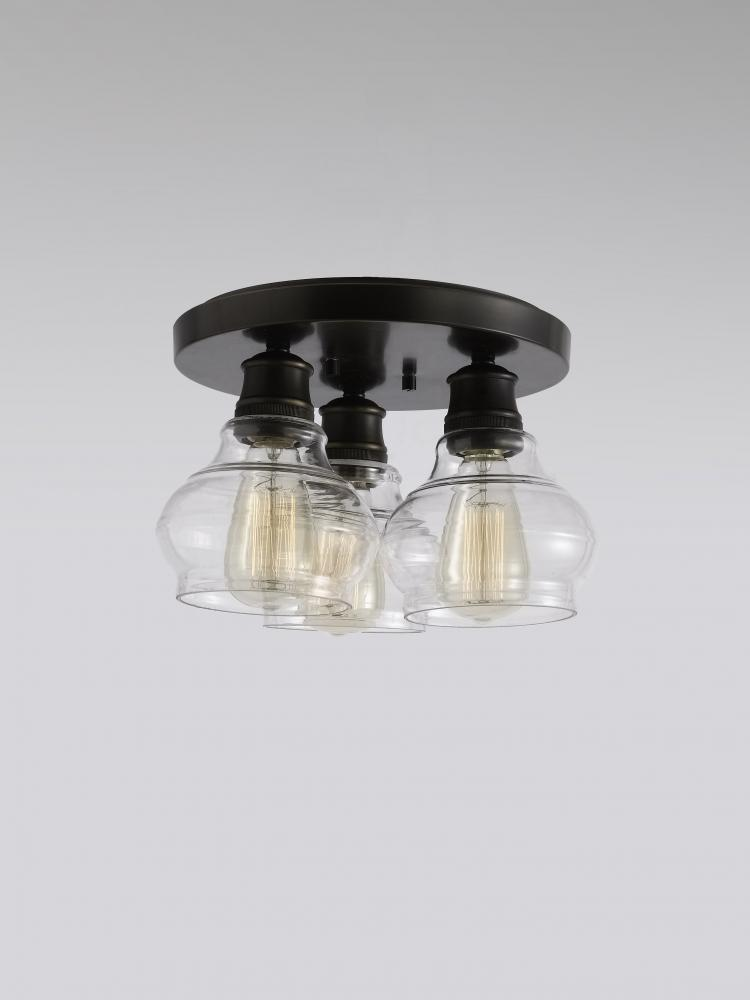 Schoolhouse flush mount 3lt clear glass v19 48104orz lighting schoolhouse flush mount 3lt clear glass aloadofball Gallery