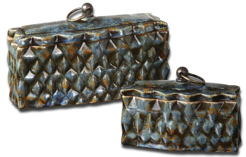Lighting Emporium in SPRINGDALE, Arkansas, United States, Uttermost 19618, Uttermost Neelab Ceramic Containers, Set/2, Neelab