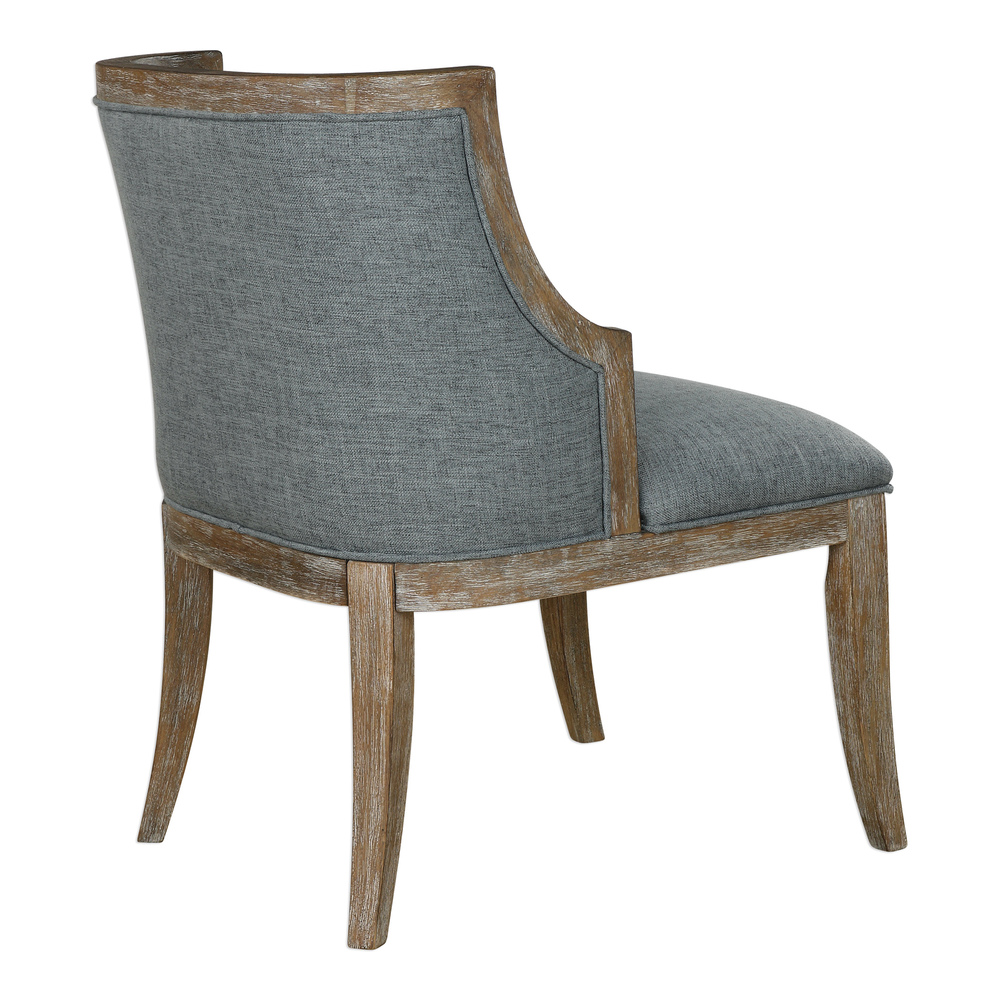 Uttermost Galloway Steel Blue Accent Chair