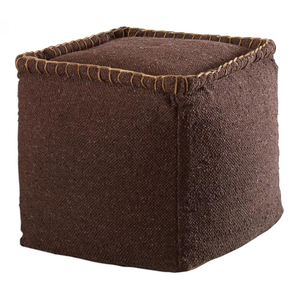 Uttermost Dakari Dark Brown Pouf