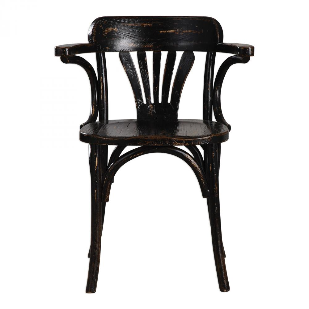 Uttermost Huck Black Accent Chair
