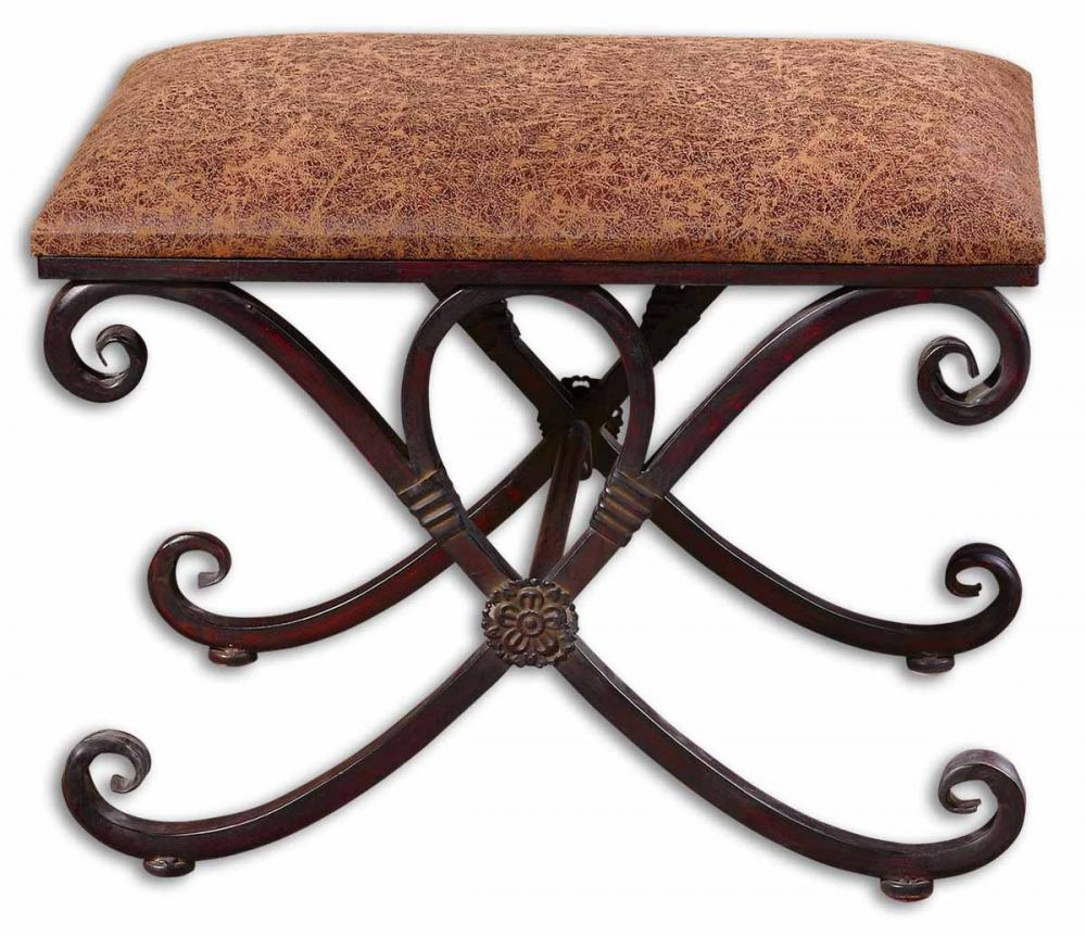 Lighting Emporium in SPRINGDALE, Arkansas, United States, Uttermost 26122, Uttermost Manoj Distressed Small Bench, Manoj