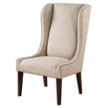 Uttermost 23214 - Uttermost Kriston Wingback Armless Chair