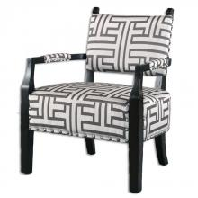 Uttermost 23217 - Uttermost Terica Geometric Accent Chair