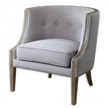 Uttermost 23220 - Uttermost Gamila Light Gray Accent Chair