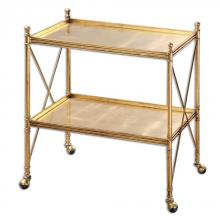 Uttermost 24464 - Uttermost Amaranto Gold Serving Cart
