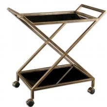 Uttermost 25013 - Uttermost Zafina Gold Bar Cart