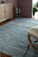 Uttermost 73013-5 - Uttermost Genoa 5 X 8 Rescued Denim & Wool Rug