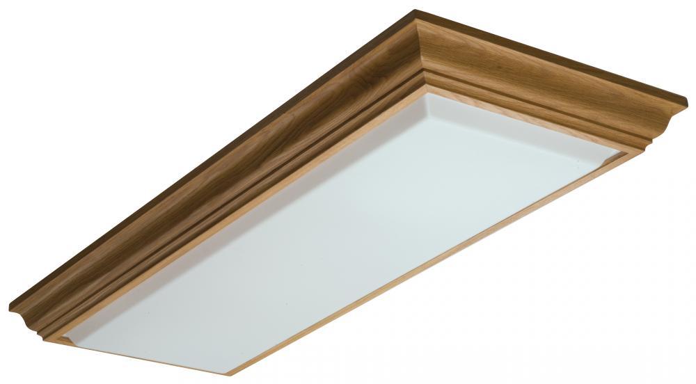 Four Light Wood Fluorescent Light : 11432RE OA | Lighting Emporium