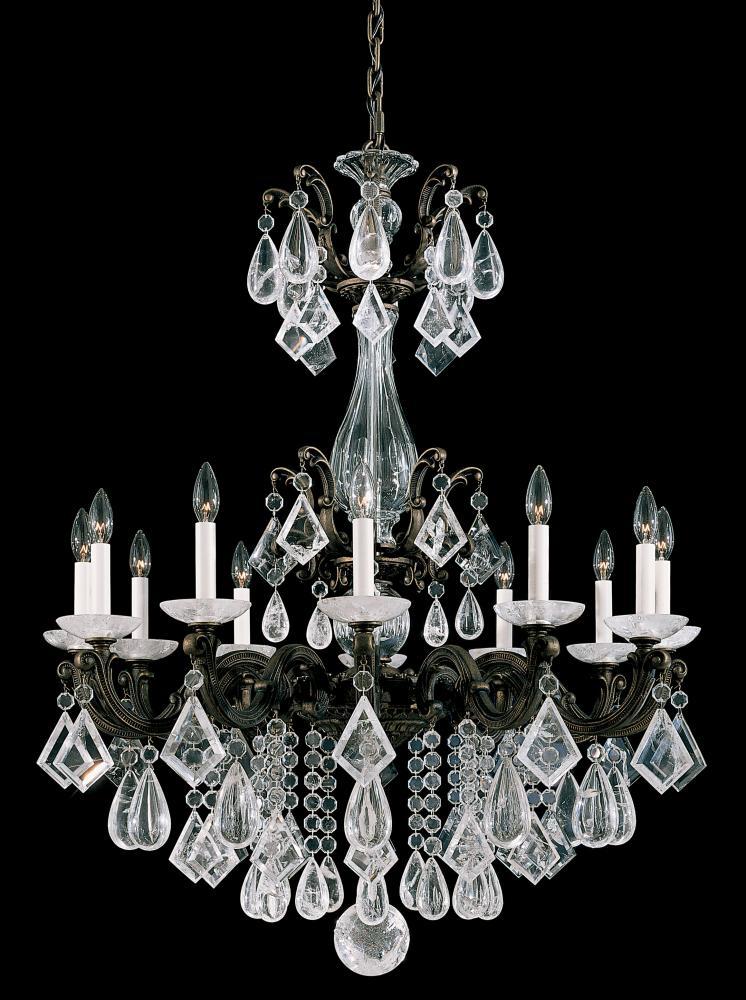 La scala rock crystal 12 light 110v chandelier in french gold with la scala rock crystal 12 light 110v chandelier in french gold with clear rock crystal aloadofball Images
