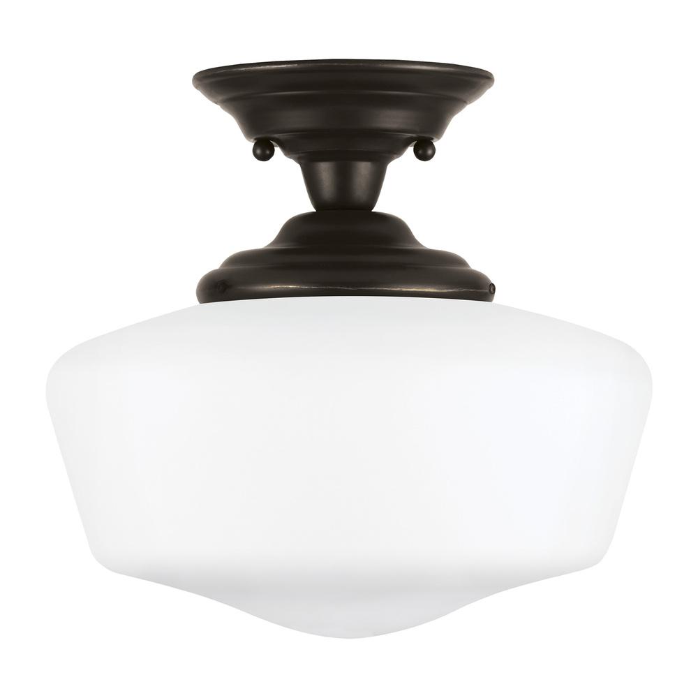 large one light semi flush mount 77437 782 lighting emporium