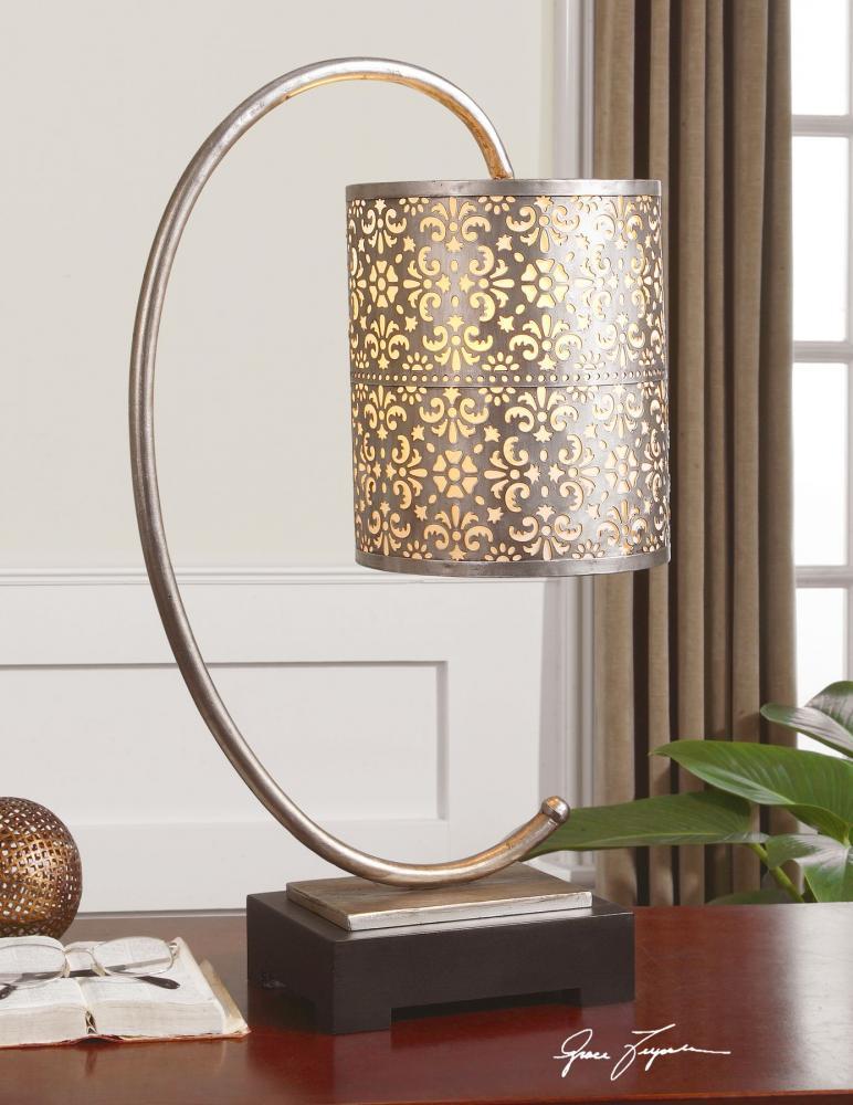 uttermost buffet lamps contemporary uttermost faleria silver buffet lamp 295421 lighting emporium